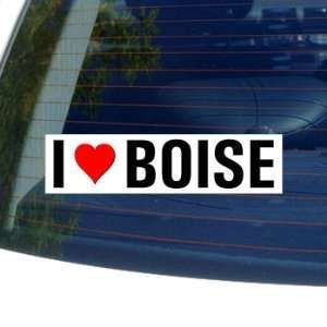 I Love Heart BOISE   Idaho Window Bumper Sticker