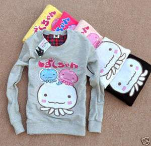 New Korean Grils Fashion Cute Octopus Cotton Top Dress