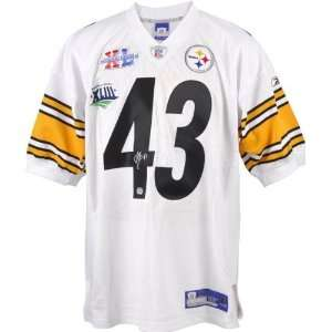 Troy Polamalu Pittsburgh Steelers Autographed Super Bowl XL and XLIII