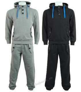B30 Mens Plain Casual Full Tracksuit   Hoodie & Jogging Bottoms S   XL