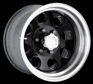 ION ALLOYS STYLE 171 WHEELS RIMS 17x9, 8x6.5 BLACK W/ MACH LIP