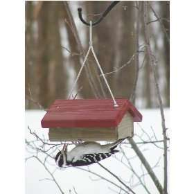 Upside Down Suet Bird Feeder Red or Green Roof Woodpecker Chickadee