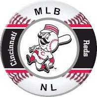 Cincinnati Reds Pinback Pin Badge, Refrigerator Fridge Magnet, MLB NL