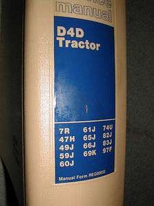 CAT Caterpillar D4D D4 SERVICE SHOP REPAIR MANUAL TRACTOR BULLDOZER