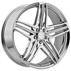 18 Inch Menzari Z12 Chrome Wheels Rims 5x112 +35 / Mercedes AUDI