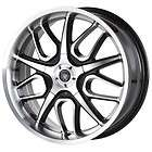 17 Inch Von Max VM2 Black Wheels Rims 5x4.25 5x108 +40