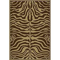 Omega Collection Zebra Animal Brown Rug (710 x 106)