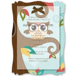 Owl   Look Whooos Having A Baby   Personalized Vellum Overlay Baby