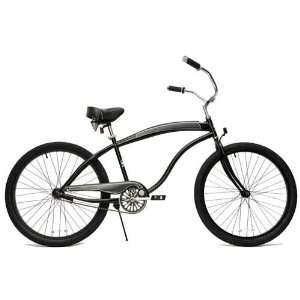 GreenLine Beach Cruiser Bicycle   BC104 Mens Black
