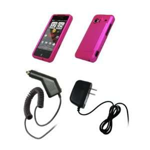 HTC Droid Incredible   Premium Hot Pink Rubberized Snap On