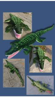 65 GIANT HUGE LIFELIKE STUFFED ANIMAL CROCODILE PLUSH