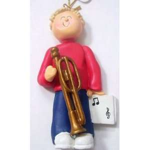 Trombone Male with Blonde Hair Beauty