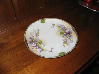 Carlsbad Austria Decorative Floral China Plate Marked