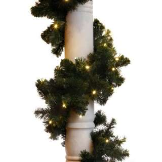 9 ft. Sierra Fir Garland   100 LED Concave Bulbs