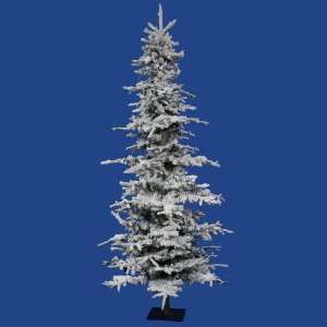 Flocked Georgian Fir Christmas Tree w/ 1417T Snow Cube