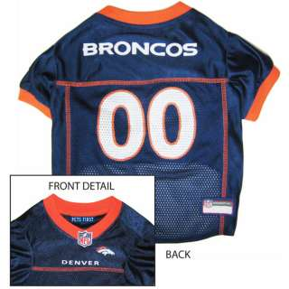 Denver Broncos Official NFL Jersey for Dogs