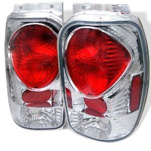 98 01 Ford Explorer Euro Taillights   Chrome Automotive