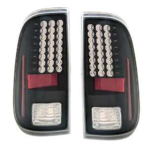 2008 2009 Ford F250/Super Duty KS LED Black Tail Lights