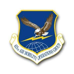 US Air Force 615th Air Mobility Operations Group Decal Sticker 3.8 6
