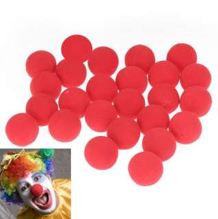 25 Red Foam Clown Nose Circus Party Halloween Costume