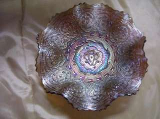 Fenton Electric Persian Medallion Carnival Glass Bowl