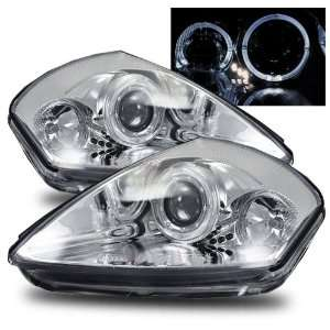 04 Mitsubishi Eclipse Chrome LED Halo Projector Headlights Automotive