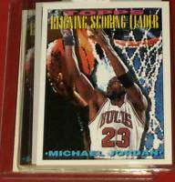 1994 TOPPS #384 MICHAEL JORDAN BULL SCORING LEADER CARD