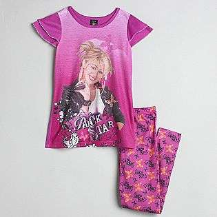 Girls 4 10 Pajamas  Disney Hannah Montana Clothing Girls Sleepwear