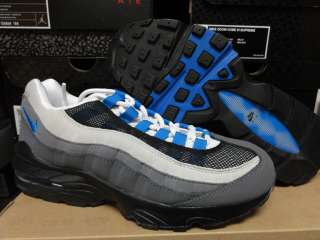 Nike Air Max 95 White Blue Grey Sneakers Boys Size 5.5