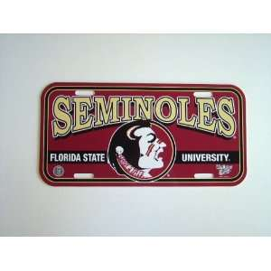 FLORDIA STATE SEMINOLES LICENSE PLATE Automotive