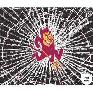 Arizona State Sun Devils Shattered Auto Decal (12 x 10