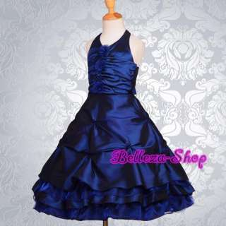 Dark Blue Wedding Flower Girls Pageant Party Formal Dresses Size 2T 3T