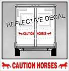 CAUTION HORSES REFLECTIVE decal for SADDLEBRED GAITED horse trailer in