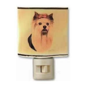 Yorkie Yorkshire Terrier Terriers Dog Dogs Ceramic Nightlight Night