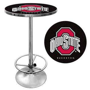 Trademark Poker The Ohio State University Pub Table   Black