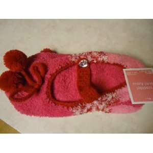 Pink tones Micro soft Mary Jane Slipper Socks