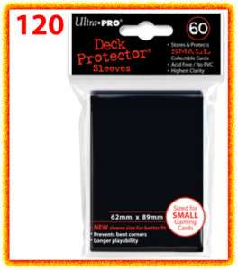 120 Ultra Pro DECK PROTECTOR BLACK Card Sleeves YuGiOh 074427826802