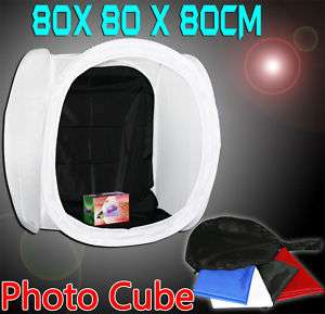 New Studio 32 80CM Photo Soft Box Light Temt Cube Kit