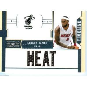 2011 National Treasures Authentic Lebron James Quad Game Worn Jersey