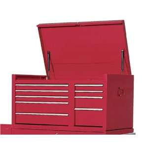 Wide by 17 7/8 Inch Deep by 22 1/4 Inch High 10 Drawer Red Top Chest