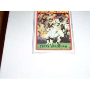 Terry Bradshaw 1972 Topps football pro action trading card
