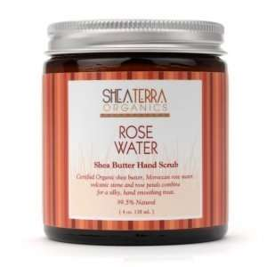 Shea Terra Organics Rose Water Shea Butter Hand Scrub Beauty