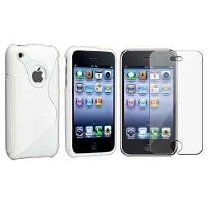 Soft White S Shape TPU Rubber Skin Case compatible with Apple® iPhone