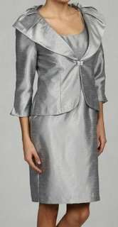 NWT JESSICA HOWARD SILVER SHIMMERY DRESS JACKET 8