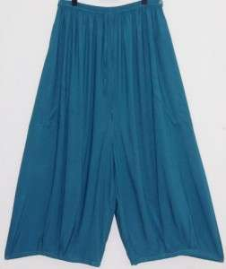 ZK120 TEAL/PANT WIDE LEG POCKET LAGENLOOK OS M L XL 1X