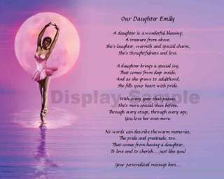 Dancer Print Personalized Daughter Poem Dance Recital Gift Idea