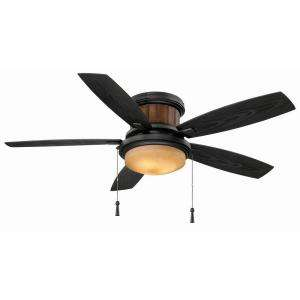 Hampton Bay Indoor/Outdoor Natural Iron Black Ceiling Fan  The Home