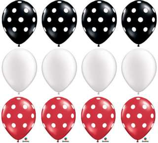 15ct Polka Dot MINNIE MOUSE THEME Party Latex Balloons