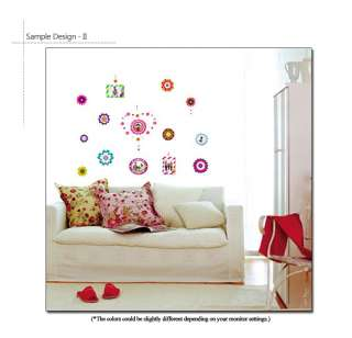 FLOWER FRAMES Home Decor Mural Art Wall Sticker Decals