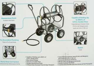 New Heavy Duty 300 Outdoor Garden Water Hose Reel Cart